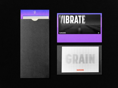 Sumzero Branding 02 black purple envelope typography logo blur dots grain vibrate typography mockups stationary graphicdesign branding