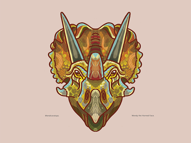 Ceretops: Wendiceratops ceratopsian dinosaur illustration