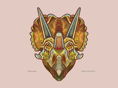 Ceretops: Wendiceratops ceratopsian dinosaur illustration