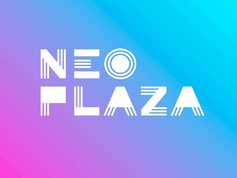 Neo Plaza / logotype mall mall identity type type design gradients gradient branding design визуальная идентификация branding разработка логотипа design logo neo neon logotype design neon colors logotype identity