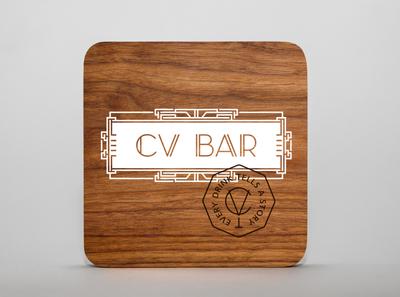 CV BAR / Coaster design speakeasy bar speakeasy coaster coaster design logo визуальная идентификация identity branding bar