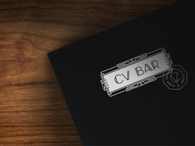 CV BAR / Folder speakeasy speakeasy bar разработка логотипа logo stationery визуальная идентификация identity branding folder
