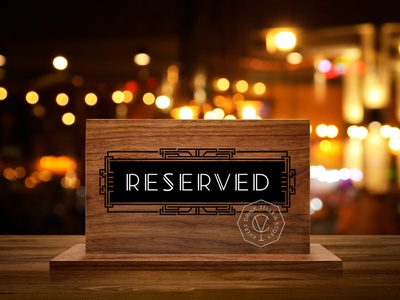 CV BAR / RESERVED table sign bar speakeasy speakeasy bar identity branding визуальная идентификация reserved table sign