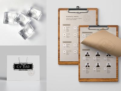 CV BAR / Identity branding identity визуальная идентификация bar speakeasy speakeasy bar