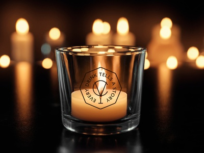 CV BAR / Branding cup glass glass cup speakeasy bar bar speakeasy logo identity branding