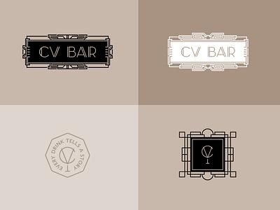 CV BAR / Identity разработка логотипа logo branding визуальная идентификация identity speakeasy speakeasy bar bar