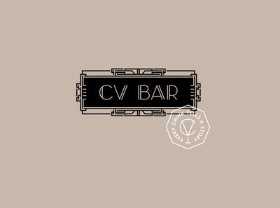 CV BAR / Logotype speakeasy speakeasy bar разработка логотипа визуальная идентификация identity cv bar branding bar