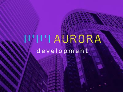 Aurora development logo development development company branding разработка логотипа logo identity aurora