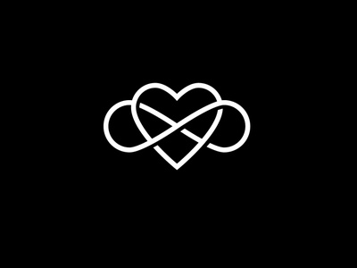 infinity love eternal love heart разработка логотипа geometric logo визуальная идентификация identity branding love