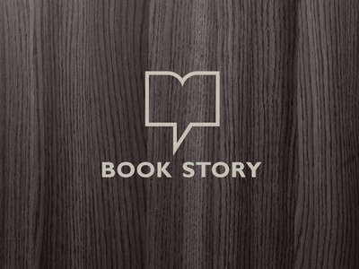 Book story logo communication tell chat bubble book store logo визуальная идентификация identity book bookstore chain logo