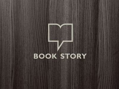Book story logo communication tell chat bubble book store logo визуальная идентификация identity book bookstore chain logo