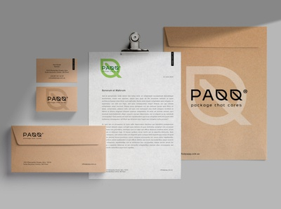 PAQQ -  stationery blank paqq eco envelope design business card design визуальная идентификация logo identity branding stationery set eco-friendly eco pack stationery design stationery