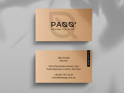 PAQQ - business card eco eco-friendly eco pack stationery разработка логотипа logo identity branding business card design