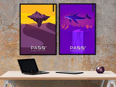 PAQQ - posters logo identity kraft posters illustration визуальная идентификация prints эко leaf logo leaf crafts eco ecofriendly craft
