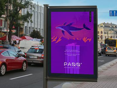 PAQQ - outdoor advertising identity branding ecology eco kraft kraft packaging leaf leaf logo outdoor advertising