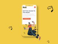 Musik Mobile Landing Page