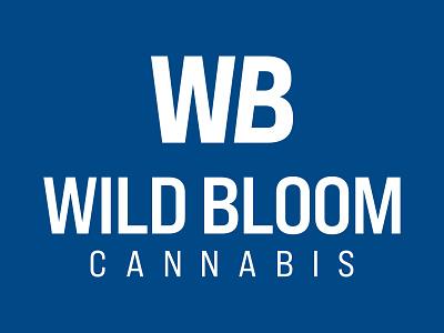 Wild Bloom Cannabis Logo typography branding design brand identity local business cannabis logo