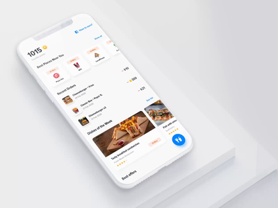 Food Ordering mobile app - animation motion animations dishes order food iphone animation aftereffects ux mobile app design ui user-interface
