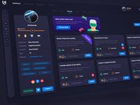 LevelHeroes gaming platform - services dashboard services gaming games dashboard user experience colorful website web ux design ui user-interface
