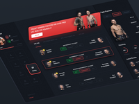 UFC Betting concept user experience betting bet ufc ux colorful website web app design ui user-interface