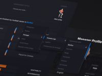 Football Manager - Character creation process user experience colorful game design dashboard creator character football manager football game ux app design ui user-interface