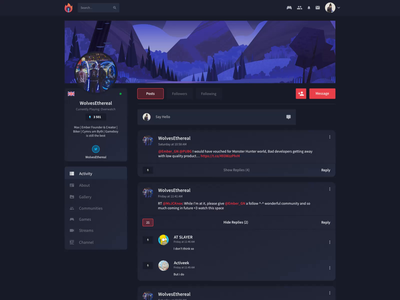 Ember - Social platform for Gamers