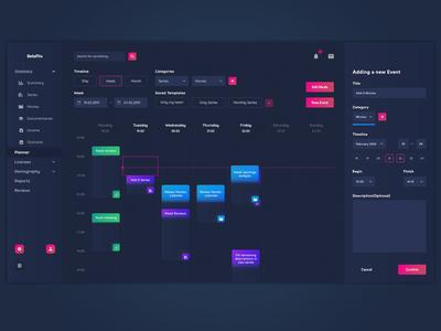 Streaming platform planner/schedule