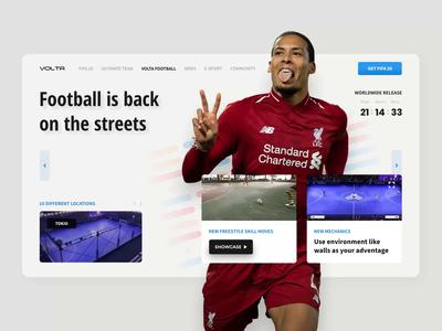 Volta Football • FIFA 20 landing page concept