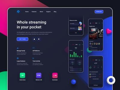 BingeWatch app landing page