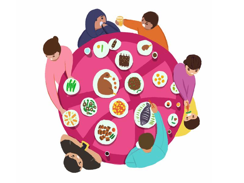 dribbble-table illustration