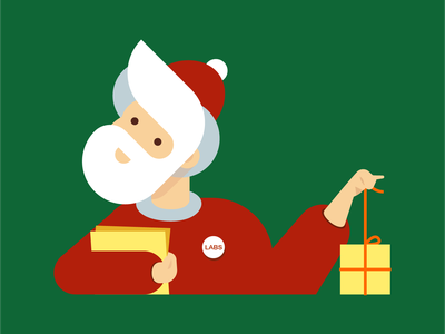 Gift Picker 3 jing illustration santa christmas