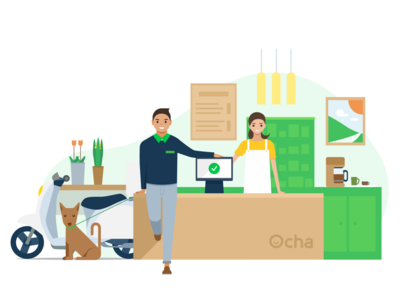 Ocha OPS Welcome Page welcome page restaurant ocha illustration