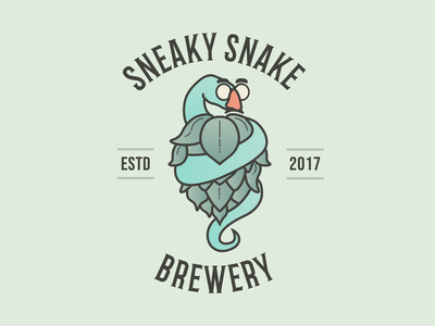 Sneaky Snake Brewery (Rebranding) brewery snake beer alabama logo branding illustration