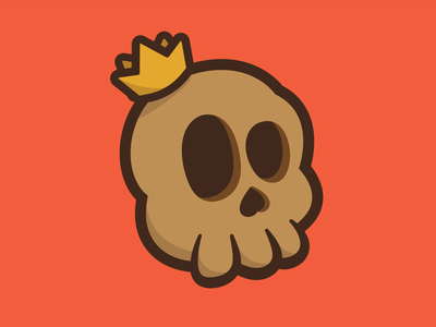 Skull King king crown skull logo illustration