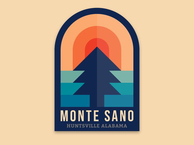 Monte Sano State Park outdoors alabama illustration badge