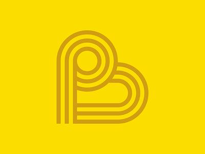PB Mark logo lettering branding