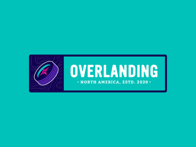 Overlanding Logo (Concept A) compass tire badge outdoors wheel logo branding