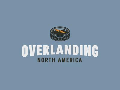 Overlanding Logo (Concept B) logo branding outdoor wheel compass tire
