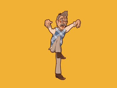 Fuck Around + Find Out karate kid karate fighting illustration character old