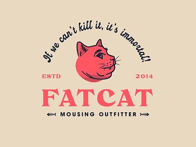 Fat Cat (Concept B) badge illustration fat cat