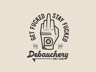 Debauchery Golf Club golf brand branding illustration