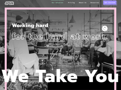 Spur Website Rebrand visual identity ui black white antidesign brutalist website rebrand branding brand