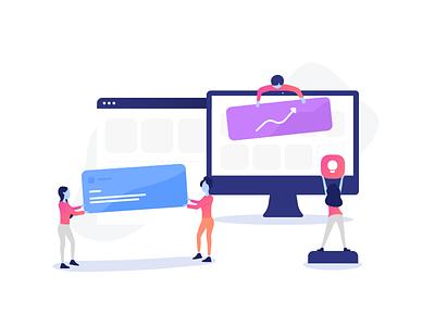 Increasing quality of product product engaging coworkers digital design graphic design digital team building social media branding illustration