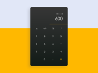 Daily UI Challenge 003 - Calculator