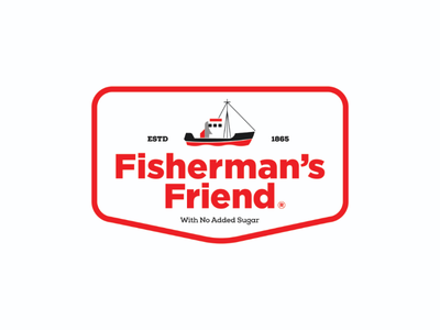 Fisherman's Friend - Re-brand logo branding modern badge