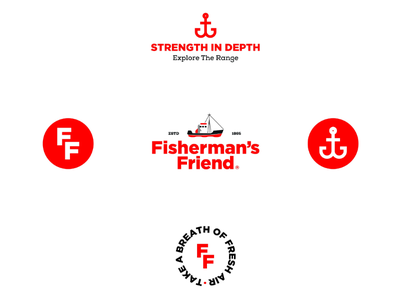 Fisherman's Friend - Re-design logo bold flat design modern