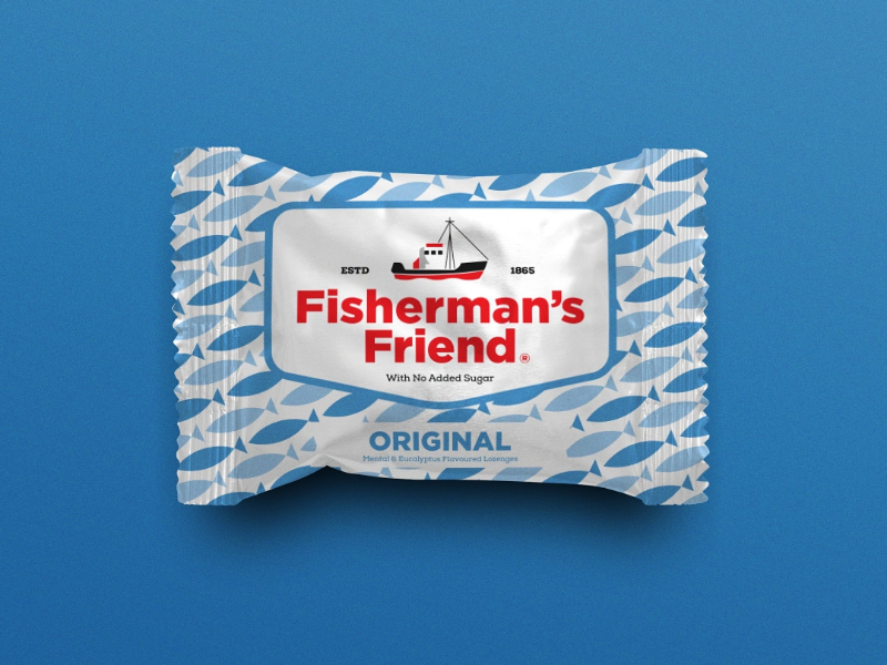 Fisherman's Friend - Packaging Design mints sweet fish modern branding illustration packaging