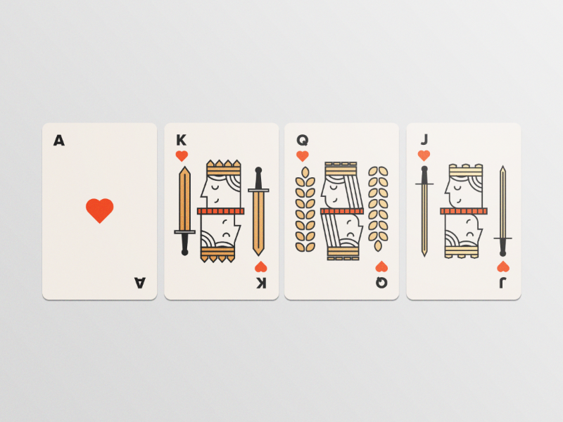 Playing Cards - Illustration inspiration design fun foil modern vector playing cards illustration
