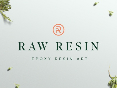 Raw Resin - Logo Design design resin copper minimal vector icon branding inspiration modern logotype logo design branding logo
