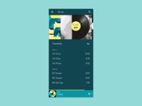 Daily UI #008 - Music Player